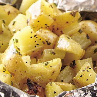 Grilled Cheesy Garlic Potato Packet