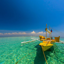 TRANQUILITY by Michael Rey - Transportation Boats ( mactan, cebu, scuba, beach, philippines, swimming )