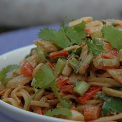 Chicken Pasta Salad with Peanut-Ginger Dressing