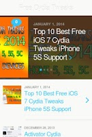 Screenshot of Cydia iPhone Tweaks