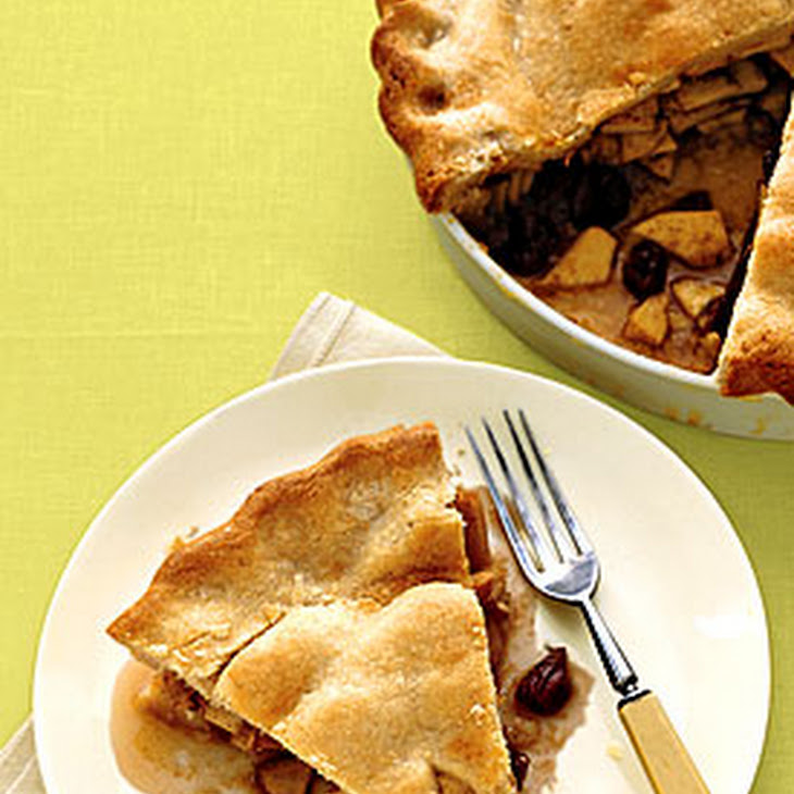 Apple Pie With Whisky-Soaked Cherries Recipe — Dishmaps