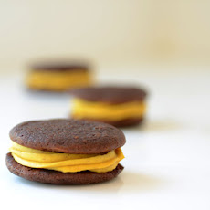 Chocolate Whoopie Pies with Pumpkin Filling
