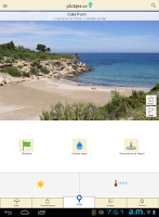 Screenshot of PlatgesCat (Catalonia beaches)