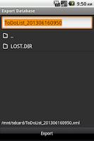 Screenshot of ToDo List