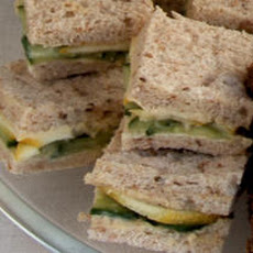 Cucumber, Hummus, and Lemon Tea Sandwiches Recipe