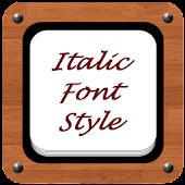Italic Font Style
