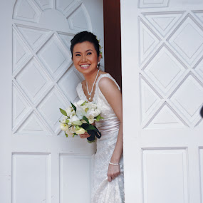 There She Comes by Wallei Trinidad - Wedding Bride ( wedding, gem, bride )