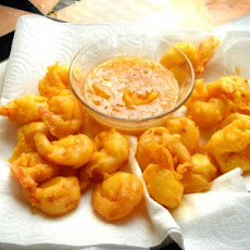 Beer Battered Shrimp With Mustard Marmalade Sauce