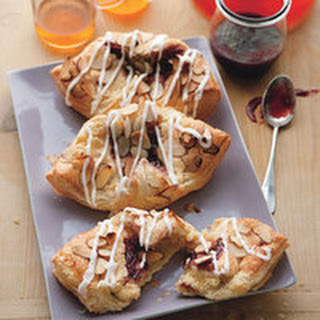 Raspberry Linzer Cheese Danishes