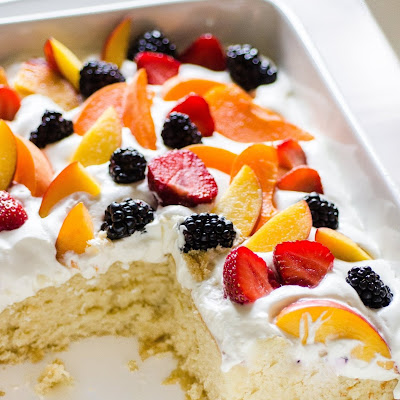 Easy Summer Cake with Fruit & Cream