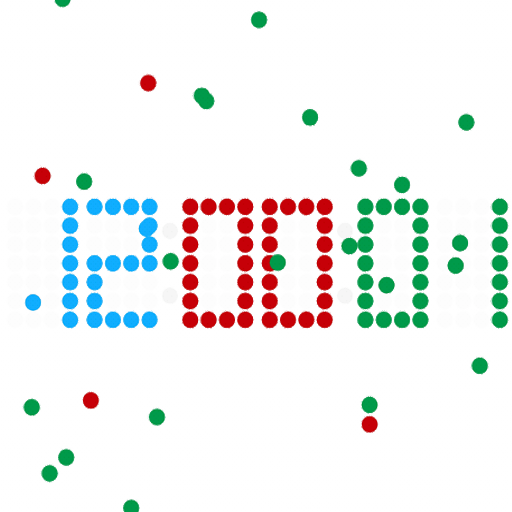 Clock with bouncing balls LOGO-APP點子