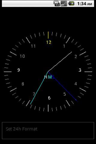 24h Analog Clock