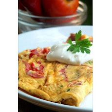 Cherry Tomato and Herb Omelette