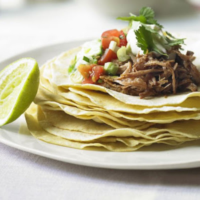Cornmeal Pancakes With Spiced Pork & Avocado Salsa