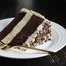 Chocolate Honey Layer Cake With Salted Honey Flour Buttercream and Raw Cocoa Nibs