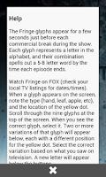 Screenshot of Fringe Glyph Translator