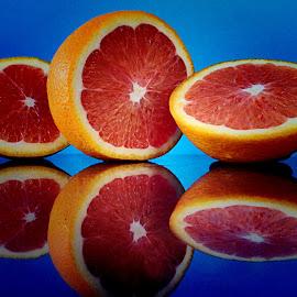 by Janette Ho - Food & Drink Fruits & Vegetables ( blue, orange. color,  )