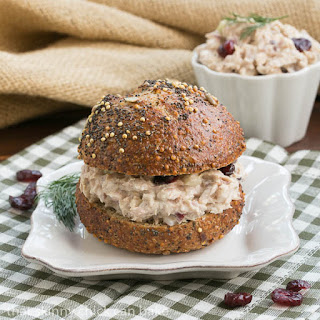 Tuna, Cranberry and Pecan Salad Sandwich