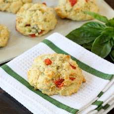 Artichoke, Roasted Red Pepper, & Feta Biscuits