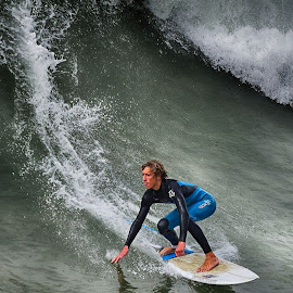 HB Surfer by Jose Matutina - Sports & Fitness Surfing ( orange county, surfer, california, sea, ocean, surf, huntington beach,  )