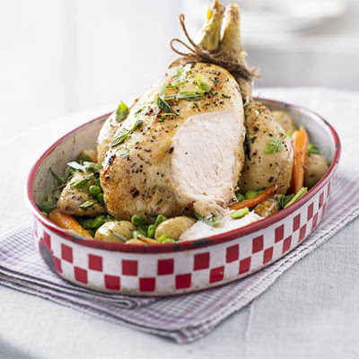 All-in-one Spring Roast Chicken