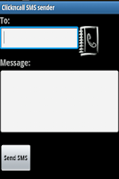 Screenshot of ClicknCall SMS sender