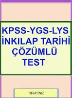 Screenshot of KPSS YGS LYS İnkılap Test Çzml