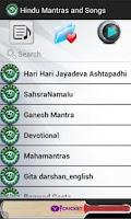 Screenshot of Hindu Mantras and Songs