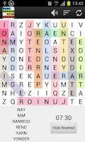 Screenshot of Word Search Puzzle game Free