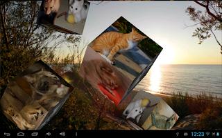 Screenshot of Flying Photos Wallpaper Lite