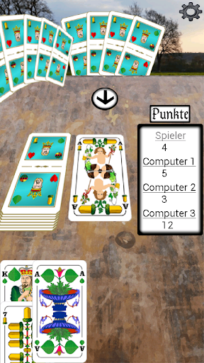 Mau Mau-Kartenspiel werbefrei - screenshot