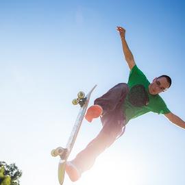 Fly Away by Mike Herod - People Portraits of Men ( skateboarding, senior portrait, skateboard, jump )