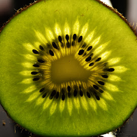 Kiwi by Bianca Bornman Strydom - Food & Drink Fruits & Vegetables ( fruit, kiwi, green, close up )