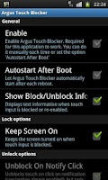 Screenshot of Touch Blocker / Disable Touch