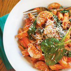 Penne with Chicken Sausage, Tomatoes & Spinach
