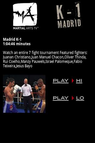 Martial Arts TV K-1 Madrid MMA
