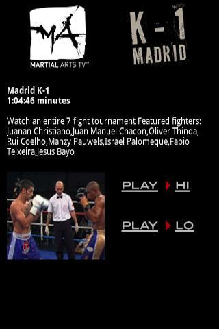 【免費運動App】Martial Arts TV K-1 Madrid MMA-APP點子
