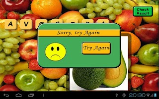 Screenshot of Fruit Scrabble Free