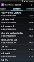 Screenshot of Call + Voice Recorder Free