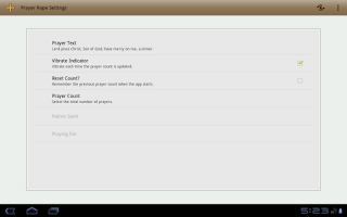 Screenshot of Prayer Rope for Android