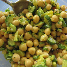 Curried Zucchini, Chickpea and Green Apple Salad