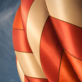 Balloon by Kevin Brown - Abstract Patterns ( hot air balloon, oregon, albany, ati northwest art & air festival, morning launch )