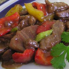 Chinese Stir-Fried Steak with Peppers