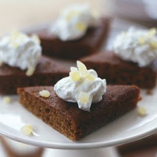 Gingerbread with Whipped Cream