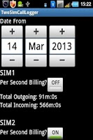 Screenshot of 2SIMCallLogger