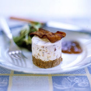 Stilton and Bacon Cheesecakes