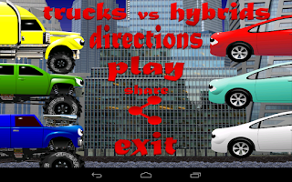 Screenshot of Trucks vs Hybrids
