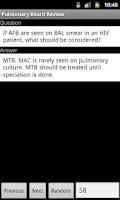 Screenshot of Pulmonary Board Review
