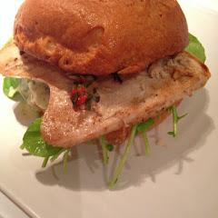Tuna burger on Glutenfree bun