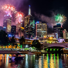 New Years 2015 by Troy Carroll - News & Events Entertainment ( cover, melbourne, event, best, fireworks, night, cityscape, new years eve, entertainment )